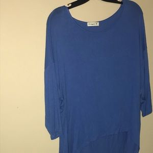 4 for $20.00 High-low mid sleeve top